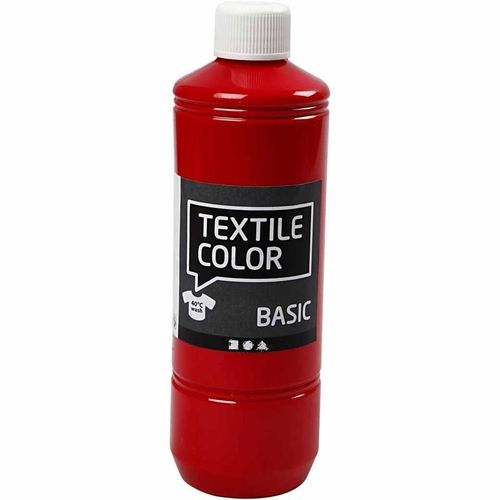 Basic Color Textilfarbe Stoffmalfarbe 500ml Rot