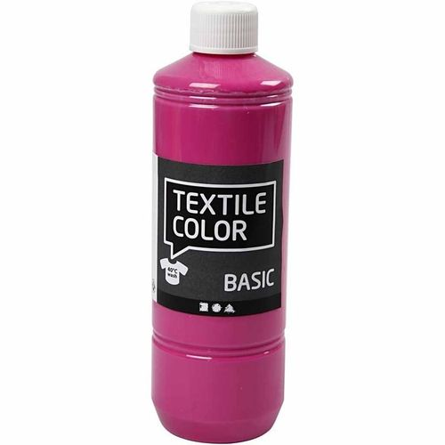Basic Color Textilfarbe Stoffmalfarbe 500ml Pink