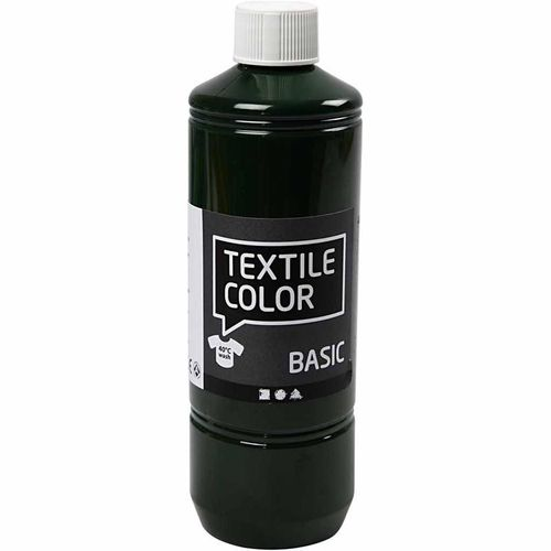 Basic Color Textilfarbe Stoffmalfarbe 500ml Olivegrün