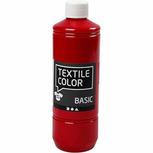 Basic Color Textilfarbe Stoffmalfarbe 500ml Primärrot