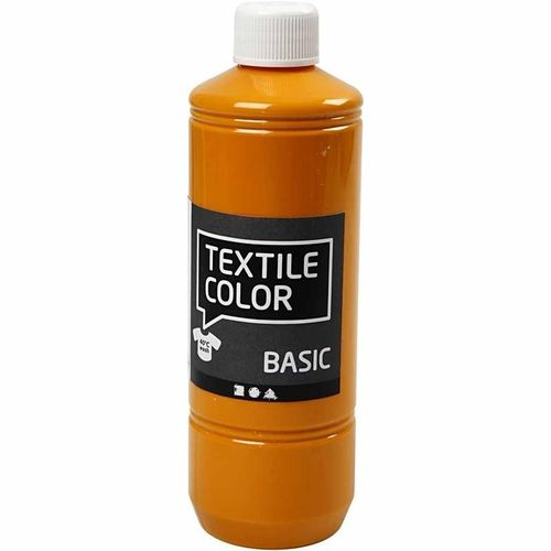 Basic Color Textilfarbe Stoffmalfarbe 500ml Mustard