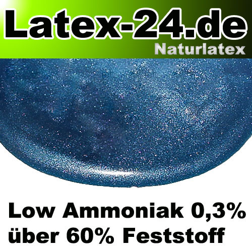 Flüssiglatex Blau Metallic Low Ammoniak 100ml