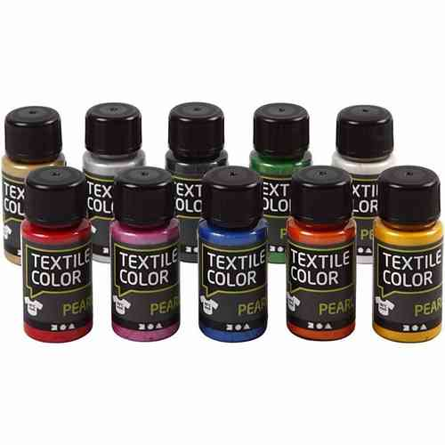 Textile Color Stoffmalfarben Sortiment  pearl  10x50 ml