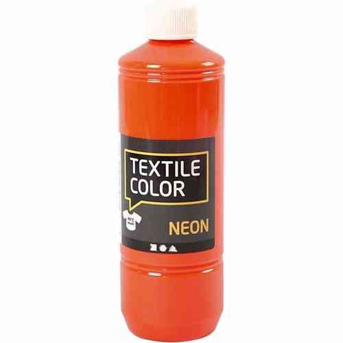 Textile Color Stoffmalfarbe Textilfarbe Neon Orange 500 ml