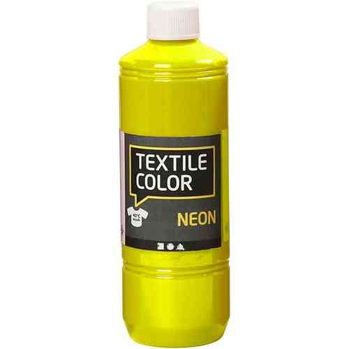 Textile Color Stoffmalfarbe Textilfarbe Neon Gelb 500 ml