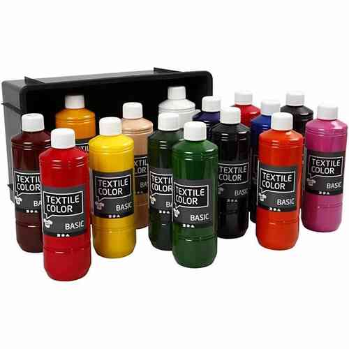 Textil Color Stoffmalfarben Basisfarben, 15x500 ml