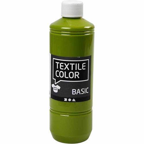 Basic Color Textilfarbe Stoffmalfarbe 500ml Kiwi