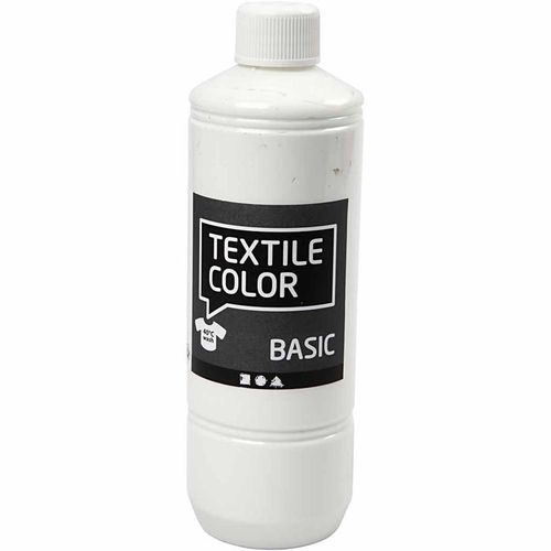 Basic Color Textilfarbe Stoffmalfarbe 500ml Weiss