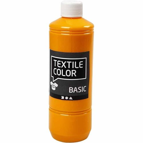 Basic Color Textilfarbe Stoffmalfarbe 500ml Gelb