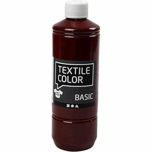 Basic Color Textilfarbe Stoffmalfarbe 500ml Braun