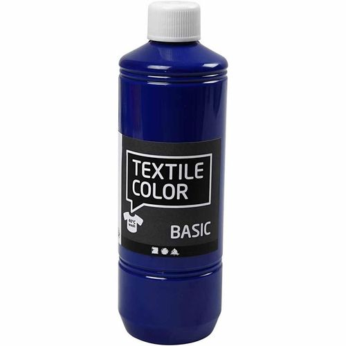 Basic Color Textilfarbe Stoffmalfarbe 500ml Primär Blau