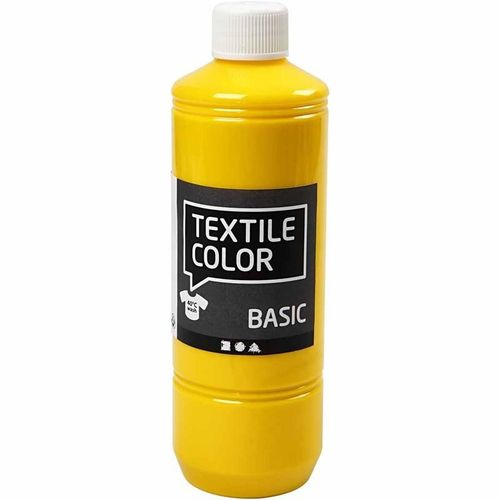 Basic Color Textilfarbe Stoffmalfarbe 500ml Primär Gelb