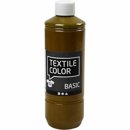 Basic Color Textilfarbe Stoffmalfarbe 500ml Olivebraun