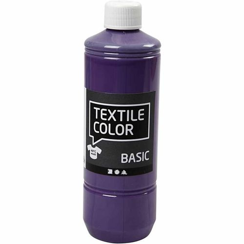 Basic Color Textilfarbe Stoffmalfarbe 500ml Lavendel